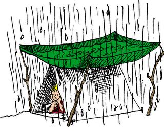 camping+in+rain